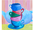 painting of a stack of cups
