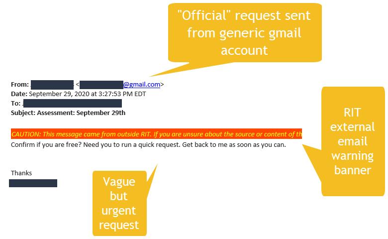 Assessment: September 29th email screenshot