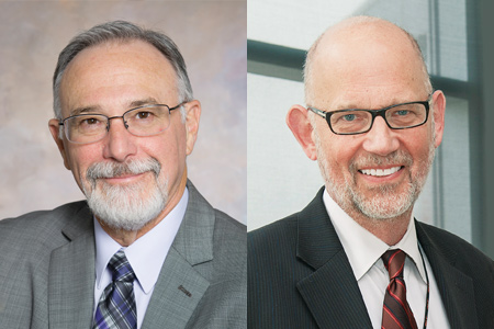 Headshots of Douglas Merrill and Dr. Daniel Ornt