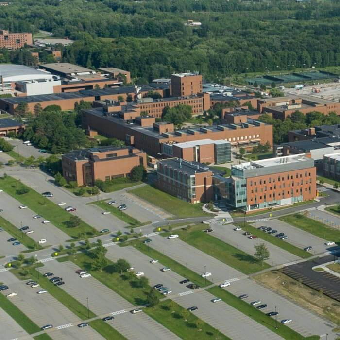 Aerial view of the R I T campus