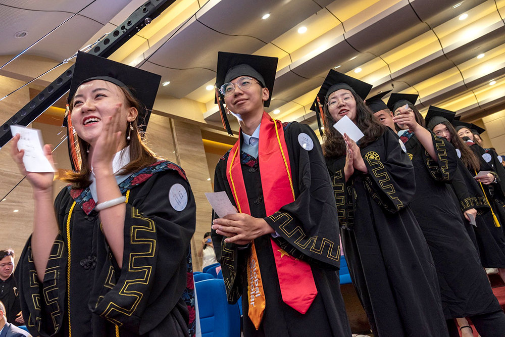 Students from China graduating