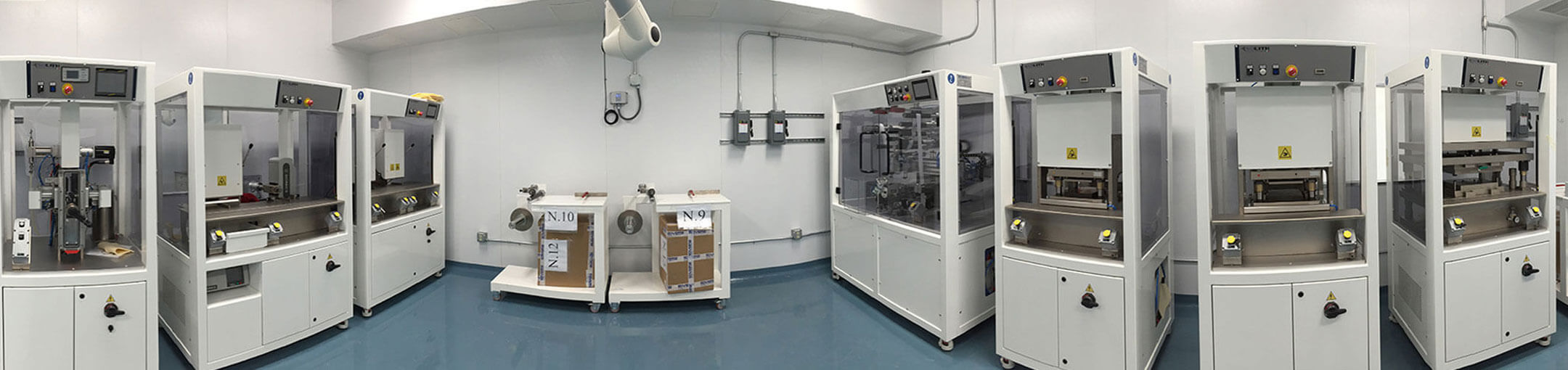 View of the interior of a lab in the Battery Prototyping Center
