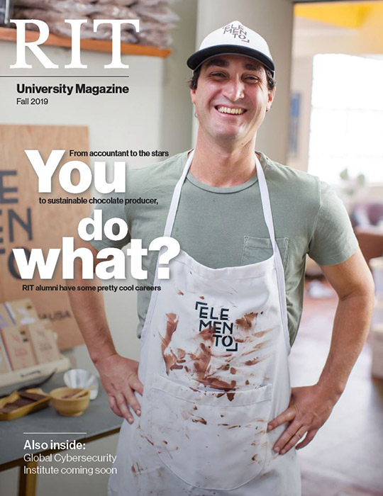 University Magazine cover featuring man wearing apron and the words: You Do What?