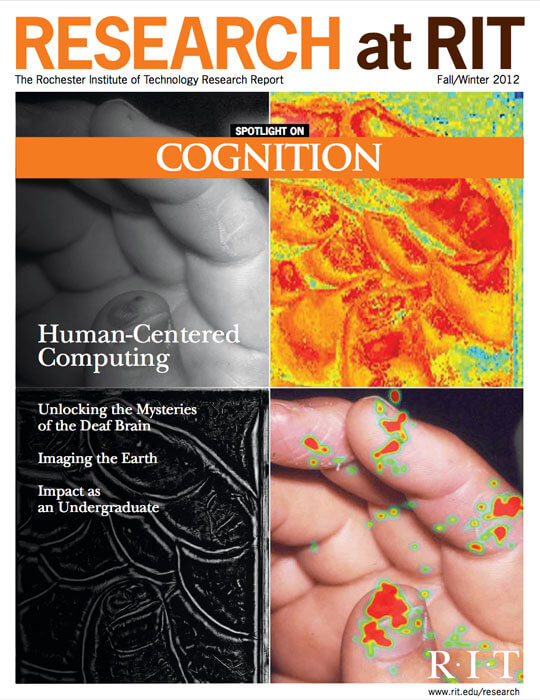 Cover for Fall / Winter 2012 issue of the Research Magazine spotlighting cognition