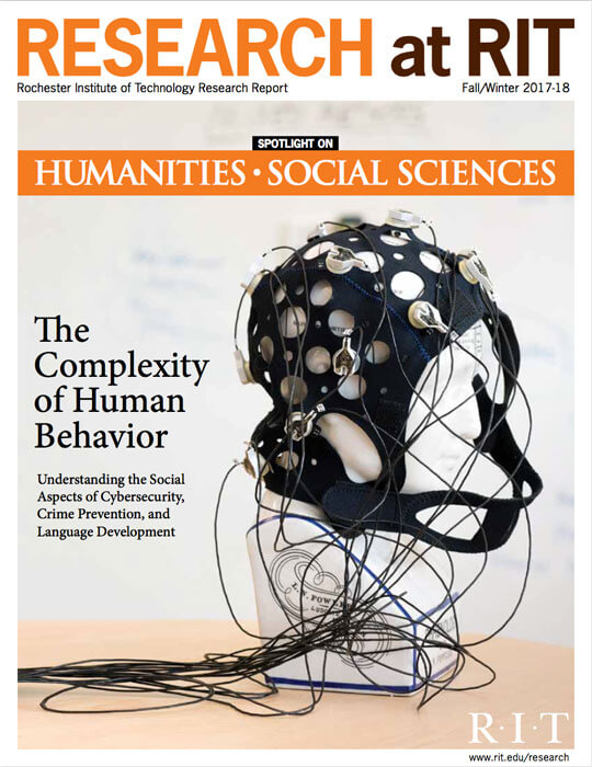 Cover for Fall / Winter 2017-18 issue of the Research Magazine spotlighting humanities and social sciences