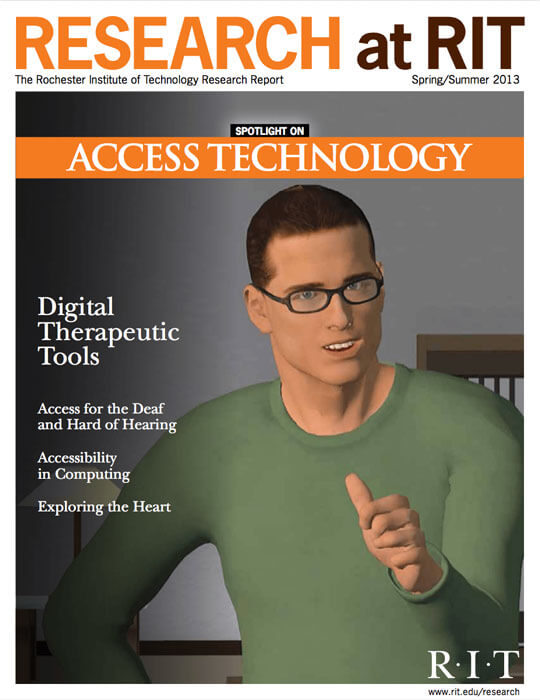 Cover for Spring / Summer 2013 research magazine spotlighting access technology