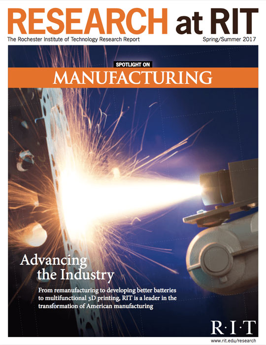 Cover for Spring / Summer 2017 research magazine spotlighting manufacturing