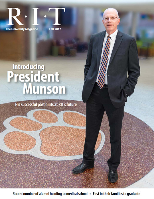 Photograph of RIT President David Munson