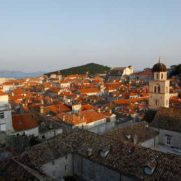 Skyline shot of Dubrovnik
