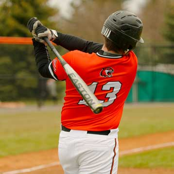 Baseball player batting