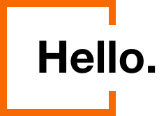 graphic with text that reads hello