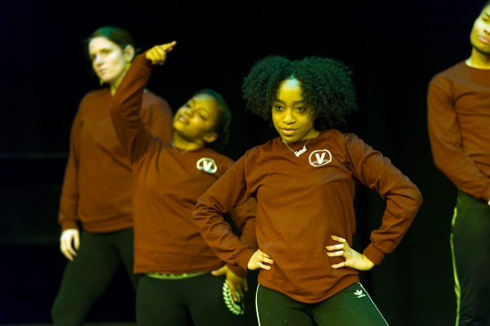 Three members of student dance team.