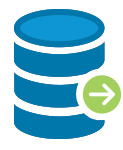 Database Icon with Arrow