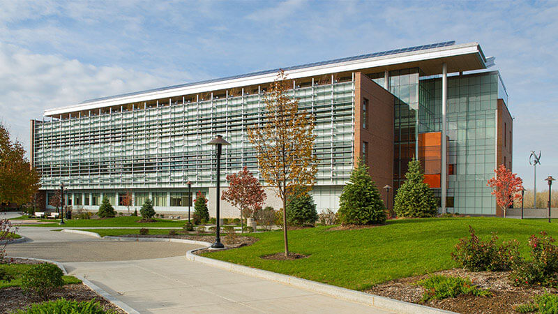 Exterior shot of the Golisano Institute for Sustainability