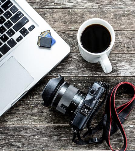 Camera and a Cup of Coffee