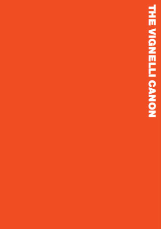 "orange background with the text ""The Vignelli Canon"""