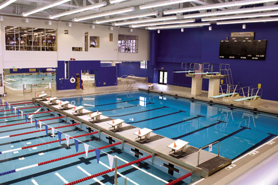 Indoor facilities center for recreation and intramurals for Pool design rochester ny