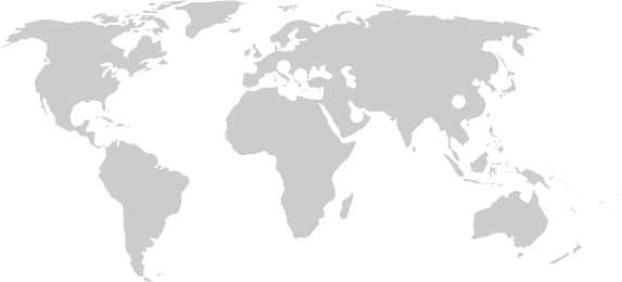 Map of the globe with dots showing the location of RIT's campuses in Rochester NY, Croatia, Kosovo, Dubai, and China
