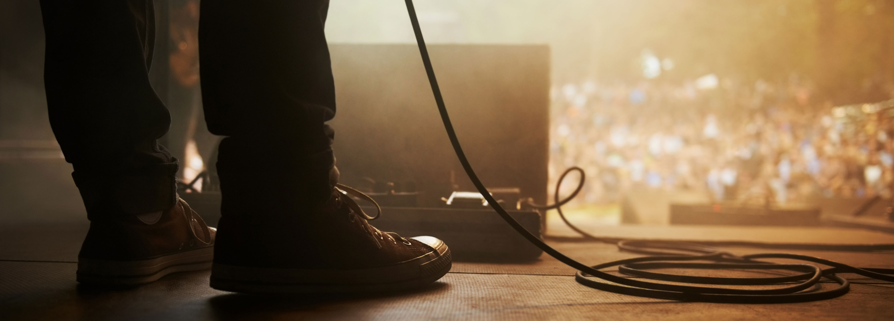 Musician standing on stage