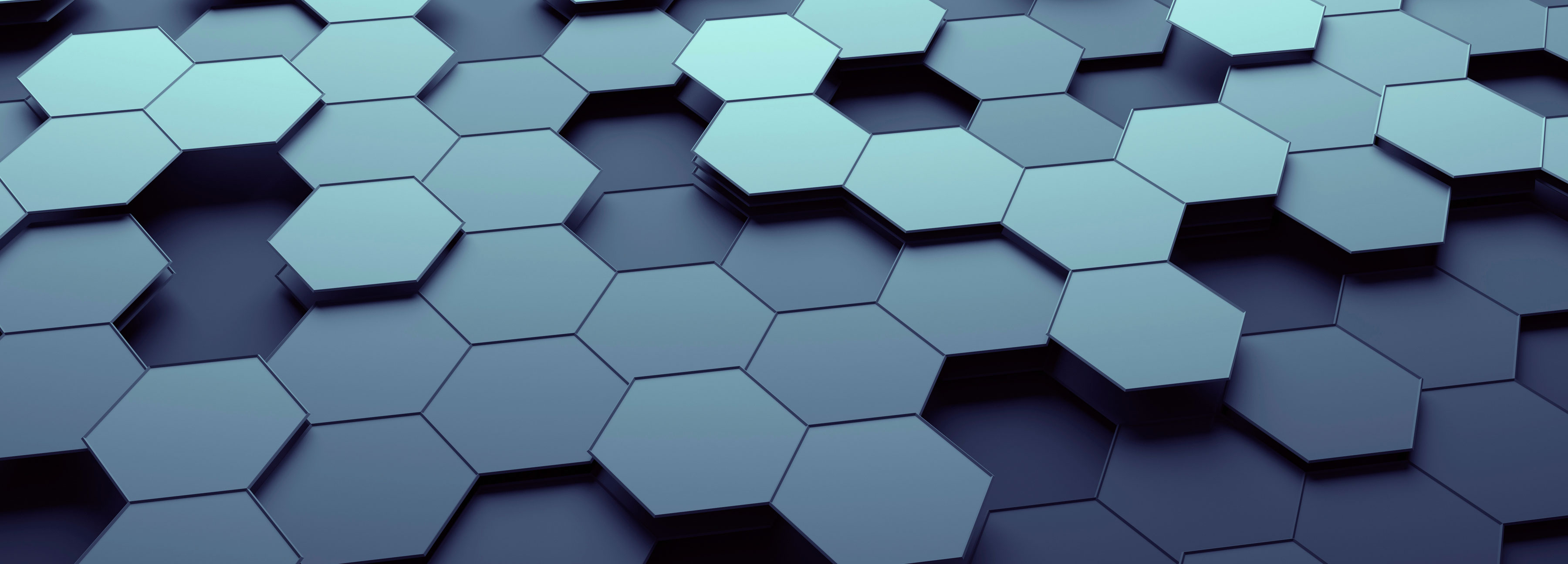 A series of hexagonal shapes stacked together